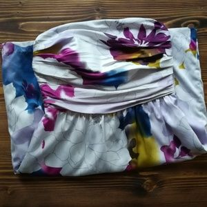 The Limited Purple Silk Floral Dress Size 8
